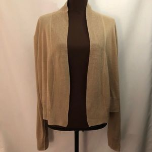 MICHAEL MICHAEL KORS Crop Open Cardigan Brown